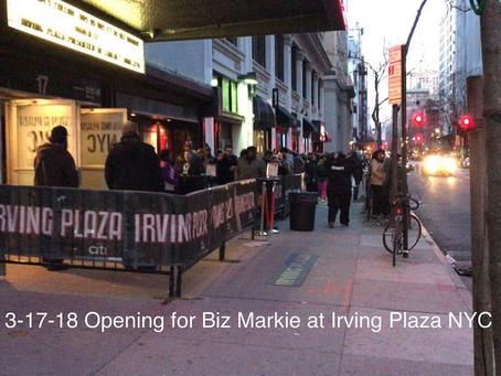 Uri Opening for Biz Markie at Irving Plaza NYC!