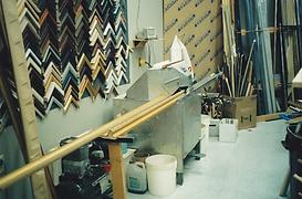 Ledsome Double mitre saw.  Photo circa 1992.