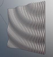 Solid model wave sculpture