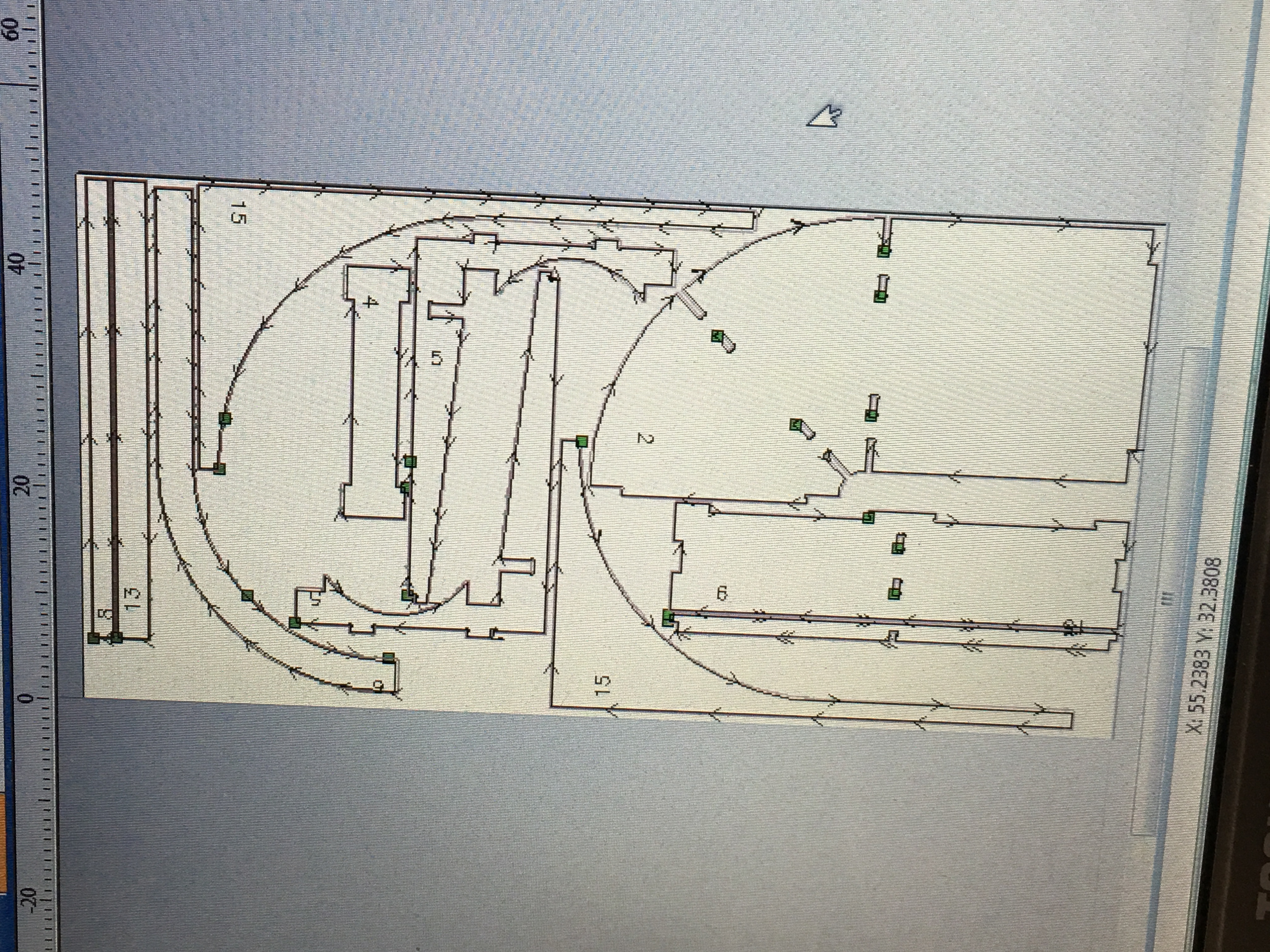 CNC design in the computer