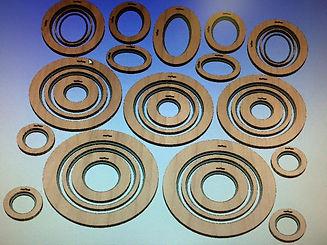 Computer designed circular frames