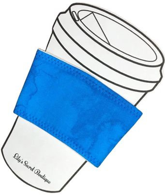Blue Marble Coffee Cozy