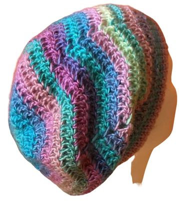 Candied Ripples Slouchy Beanie