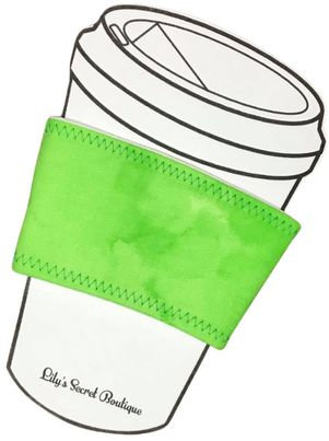 Green Marble Coffee Cozy