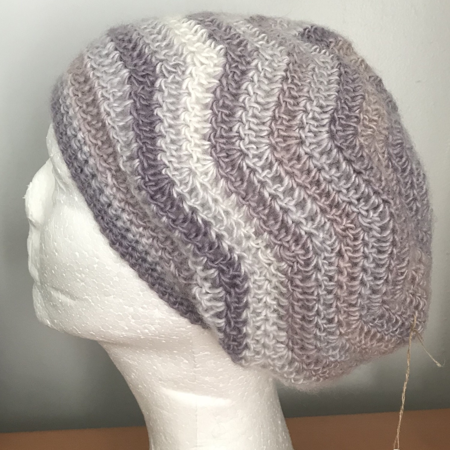 Thumbnail: Pearly Ripples Slouchy Beanie