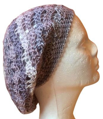 Pearly Lacy Slouchy Beanie