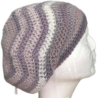 Pearly Ripples Slouchy Beanie