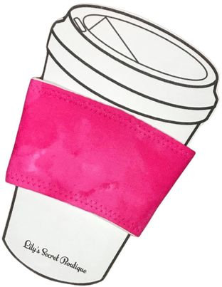Pink Marble Coffee Cozy