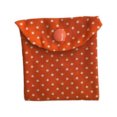 Orange with White Dots Reusable Snack Bag