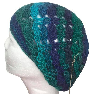 Dragonfly Lacy Slouchy Beanie