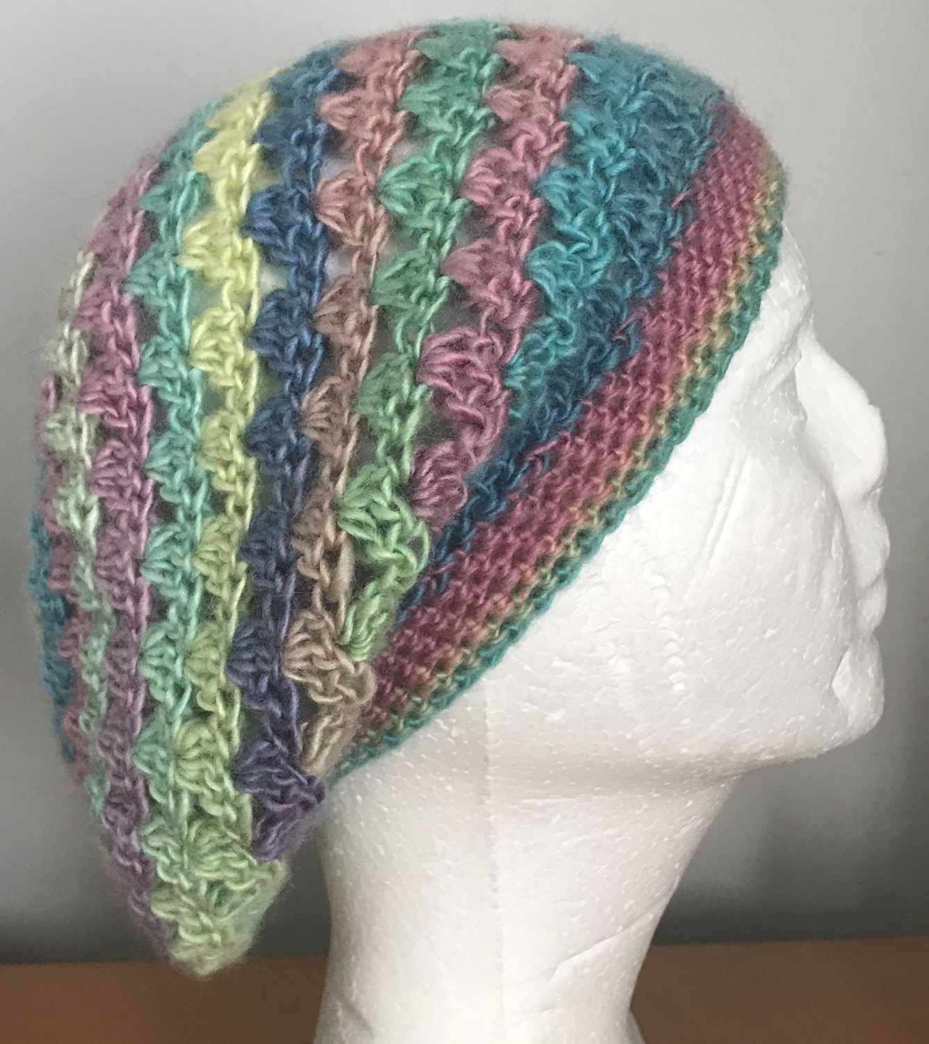Thumbnail: Candied V-Stitch Slouchy Beanie