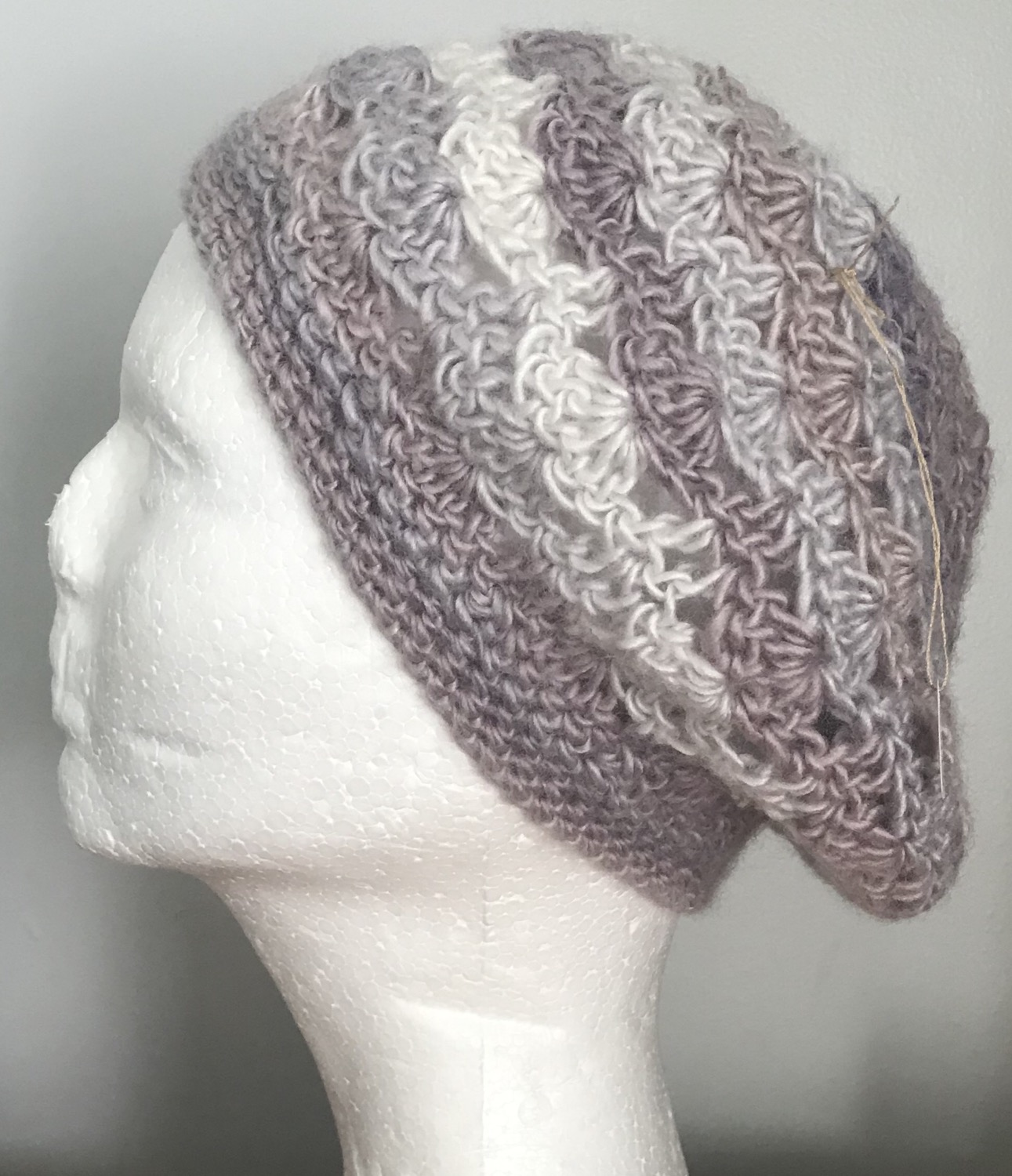 Thumbnail: Pearly Lacy Slouchy Beanie