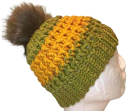 Green and Yellow Beanie