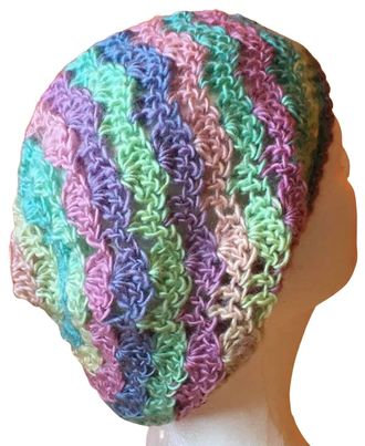 Candied Lacy Slouchy Beanie