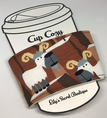 Mountain Goats Coffee Cozy