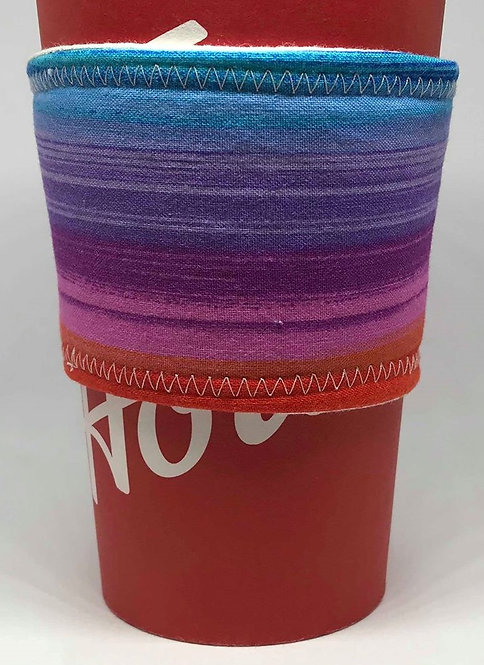 Rainbow Coffee Cozy