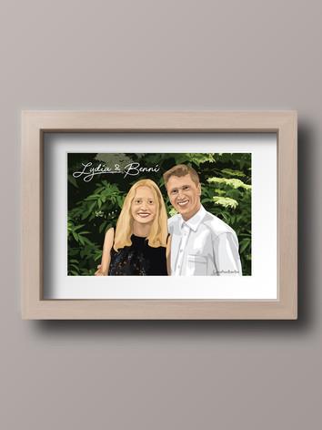 Wooden framed print