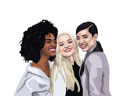 Custom Digital Illustration (Group)