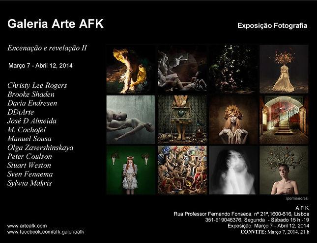 Encenação e revelação II. Exposição Fotografia. Galeria de Arte AFK, Lisboa