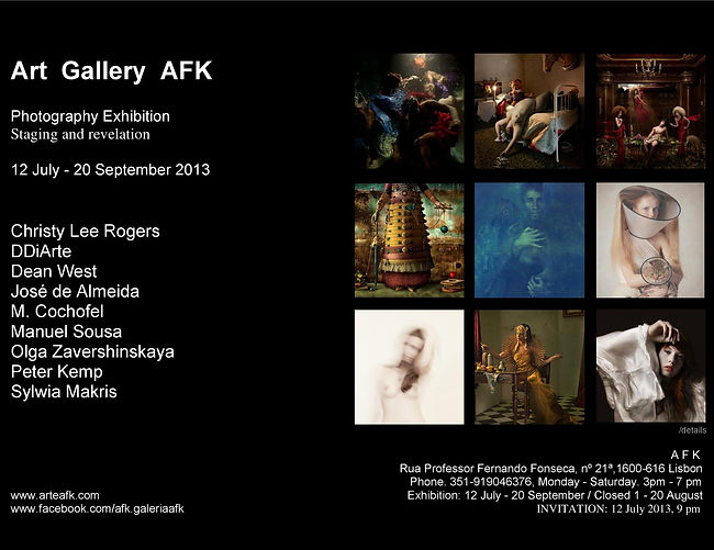 Photography Exhibition. Staging and revelation. Art Gallery, Lisbon. AFK