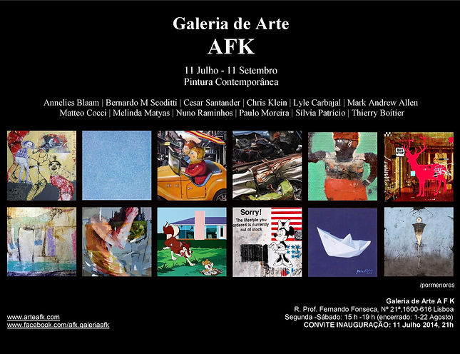 Pintura Contemporânea. Convite exposição.Galeria de Arte, Lisboa.