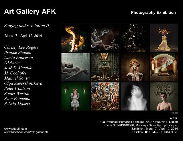 Staging and revelation II. Photography Exhibition. Art Gallery AFK, Lisbon