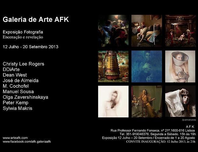 """Exposição de Fotografia: """"Encenação e revelação"""". Galeria de Arte, Lisboa. AFK"""