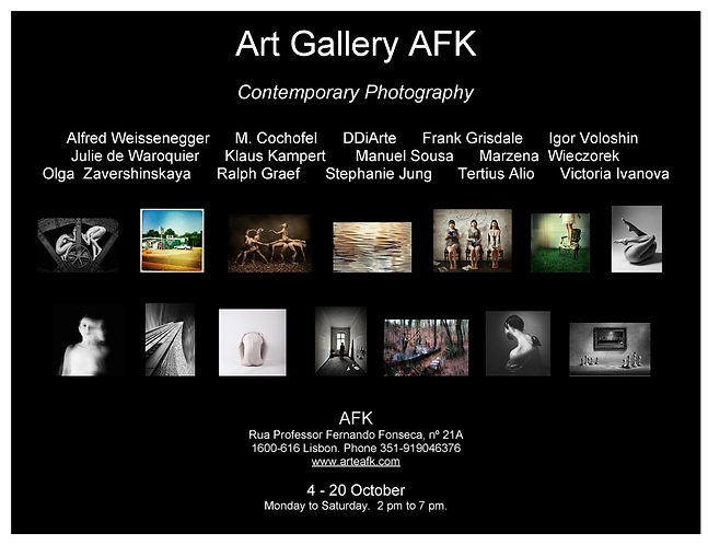 photography exhibition. Art Gallery AFK, Lisbon