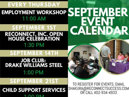 September Events & Workshops