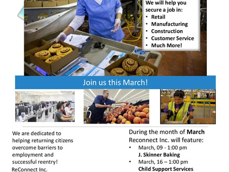March Workshops & Services