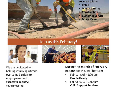 February Workshops & Services