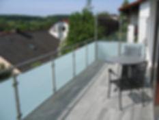 Balkon Hellgrau