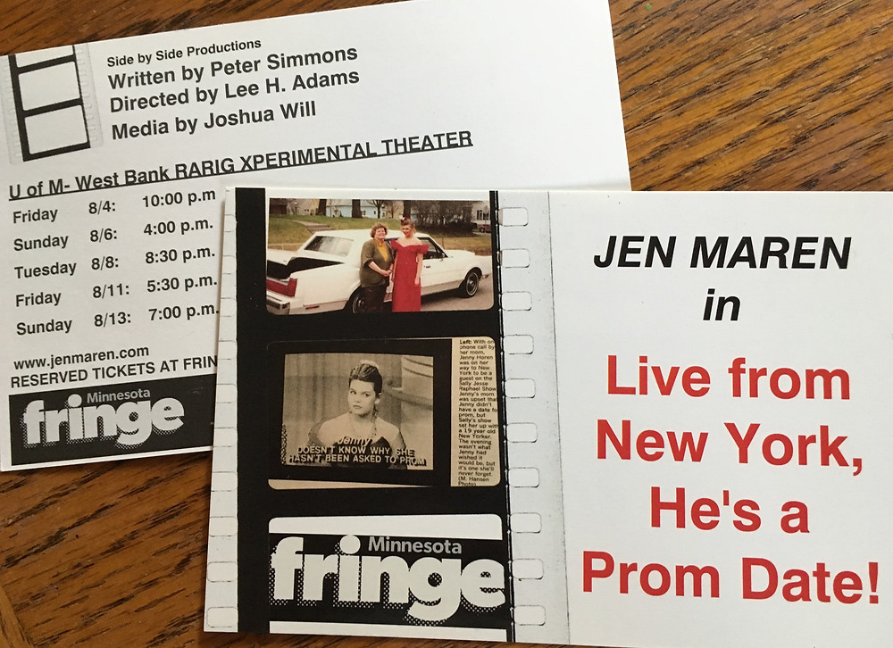 Minnesota Fringe Live from New York, He's a Prom Date!