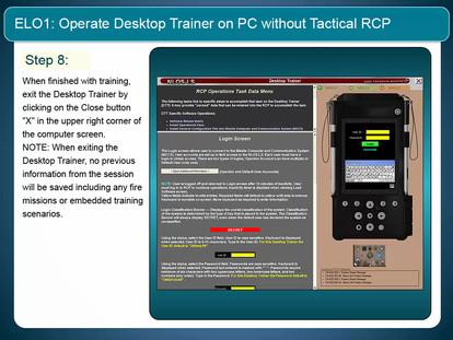 Sample Curriculum Slides from Desktop Training