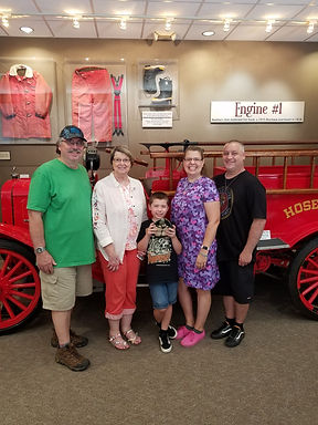 Cynthia Willhite and her family from Georgetown and Houston finished the Corvette Invasion