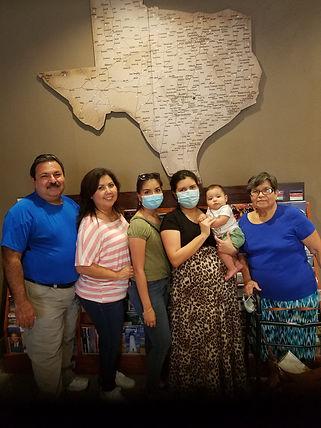 The De La Garza family from Mission visi