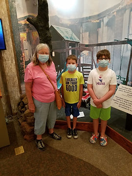 Frequent Bastrop Museum-goers, grandmother Glenna and 9 year old grandson Bryce Smyer. Bro