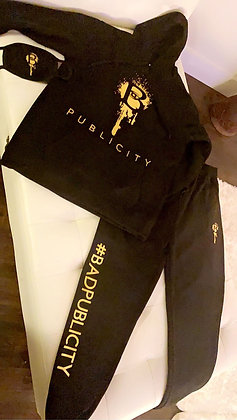 On The Run jogging suit  3 piece (black ONLY)