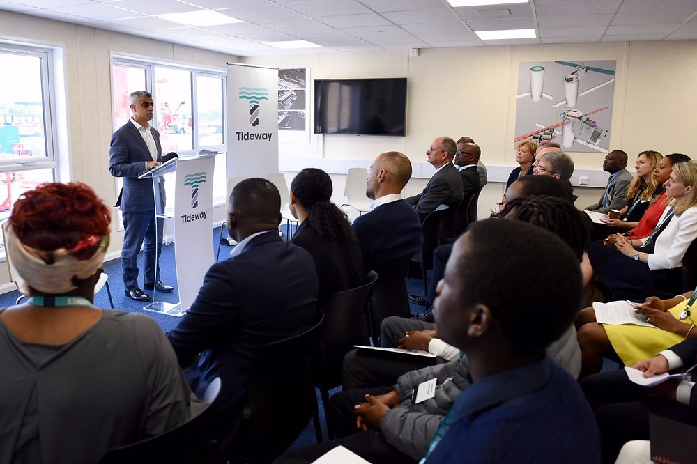 London Mayor, Sadiq Khan delivering his keynote