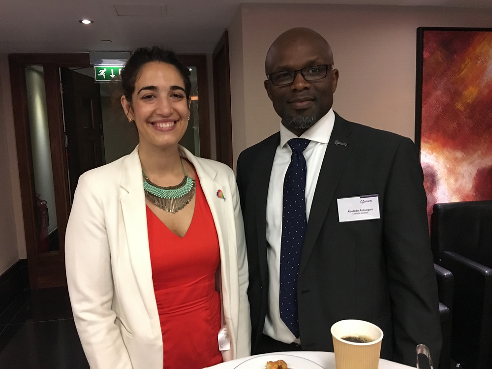 Lucile Kamar, RICS Equalities Manager and Bola Abisogun FRICS