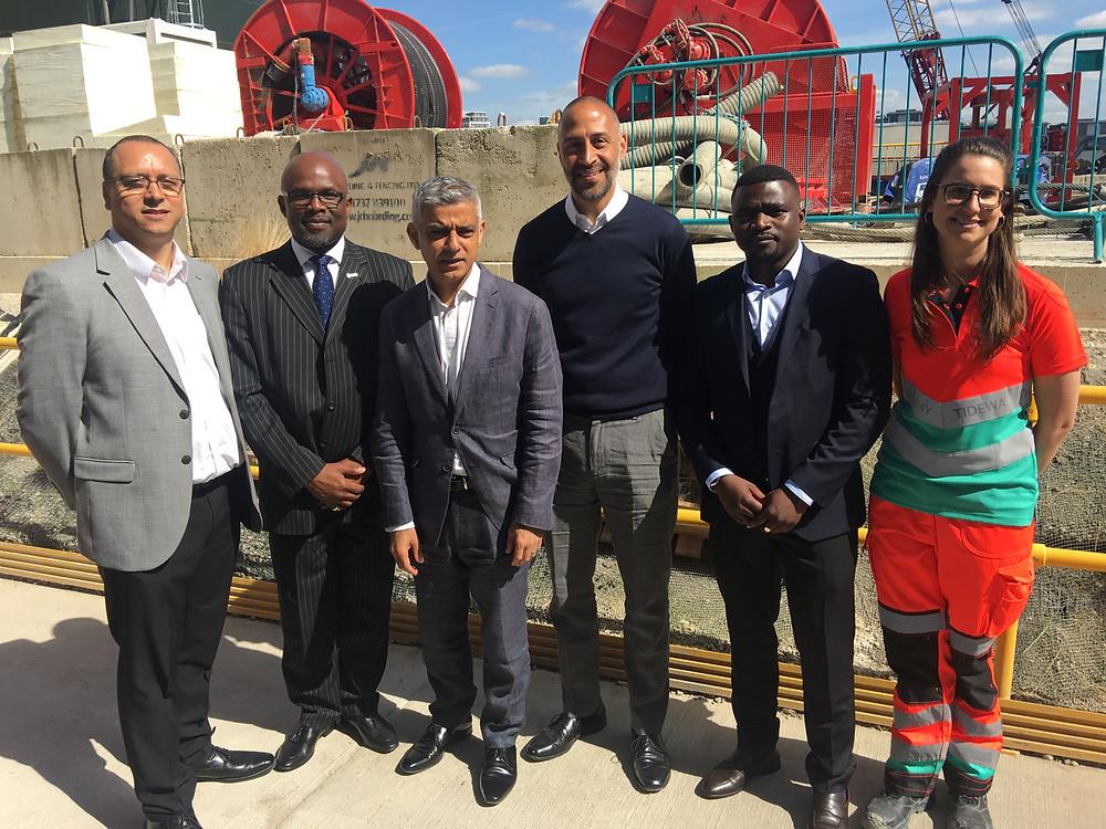Group photo with BTEG, Mayor Khan and Matthew Ryder QC