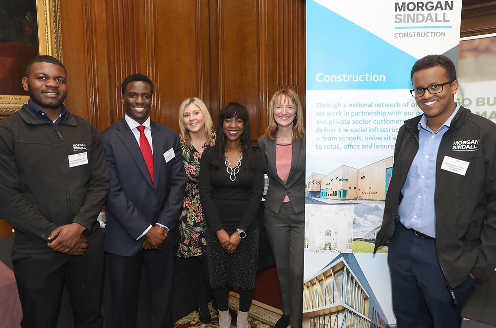 Dawn Moore [second from right], with Deputy Mayor and Team Morgan Sindall