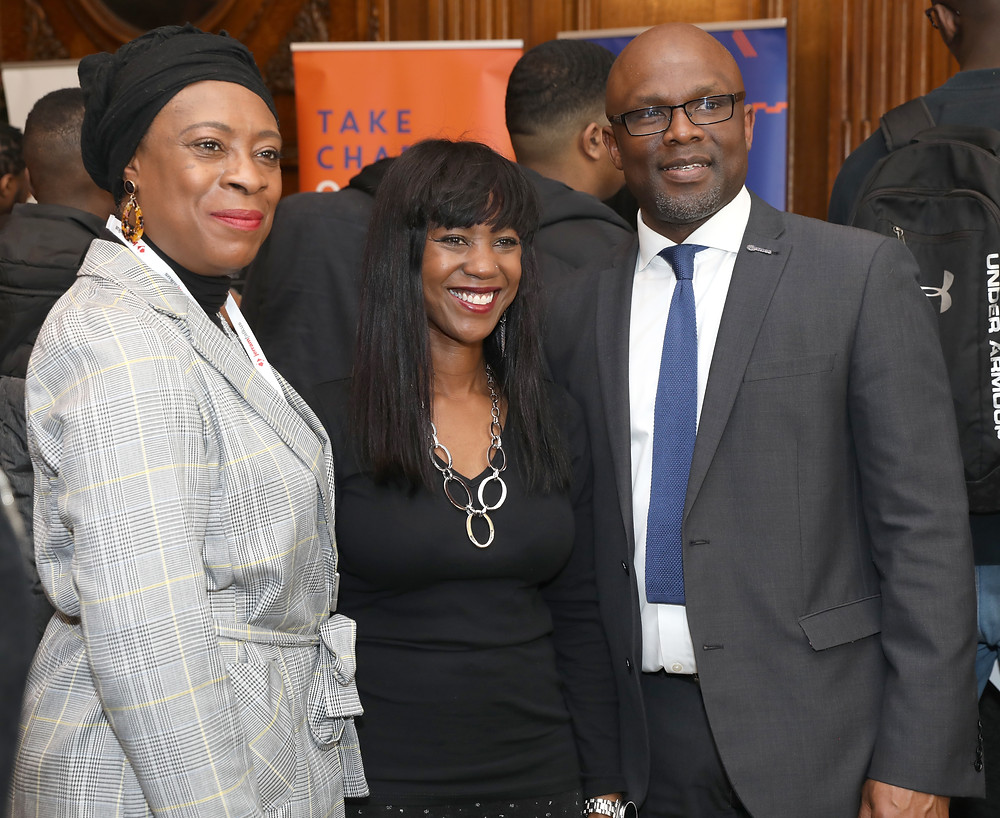 Koren Lynch from Jerram Falkus with Deputy Mayor and Bola Abisogun OBE