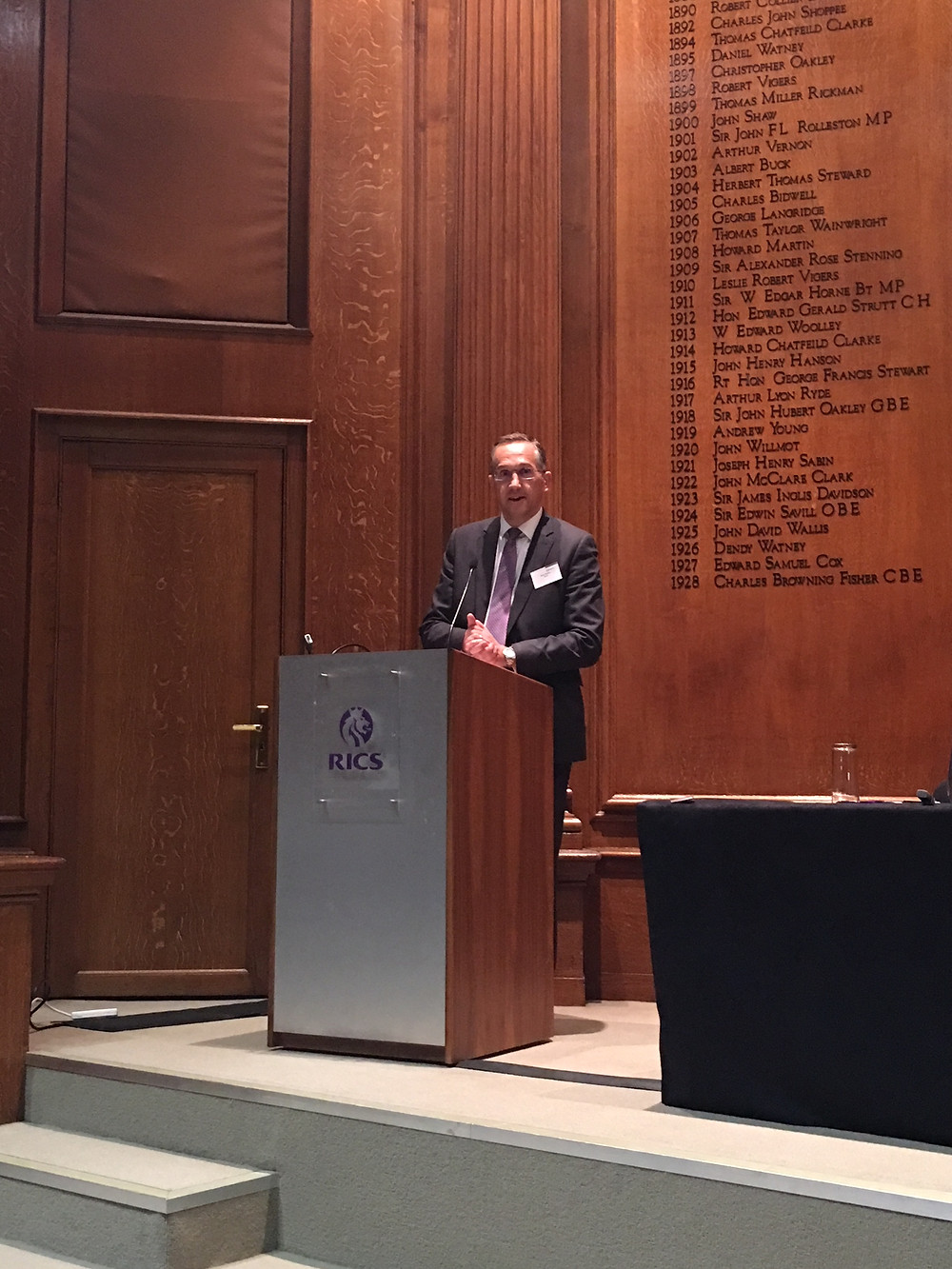 Mark Wally, RICS MD EMEA; delivers introduction