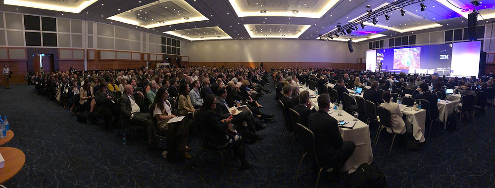 Panoramic view of attendees at WBEF 2018