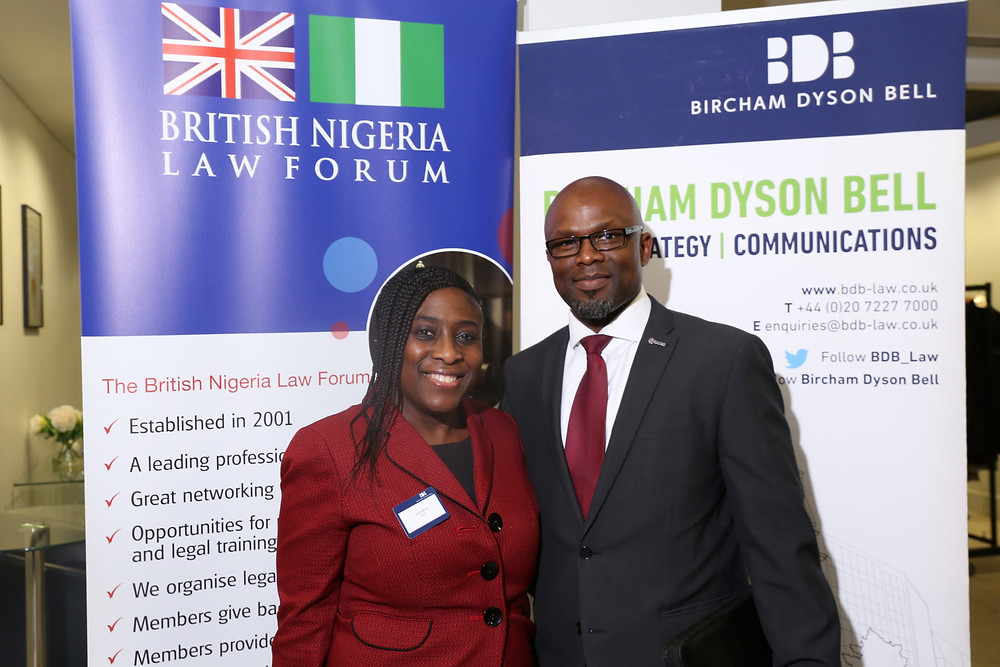 Seye Aina, Chair of BNLF and Bola Abisogun FRICS