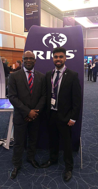 Bola Abisogun with RICS International 'Rising Star' - Zain Ghaffur