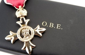 DCS Founder & Chair - receives OBE in 2019 New Years Honours List....!!