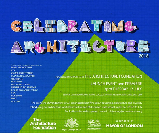 Celebrating Architecture 'film premiere' at the Royal College of Art, London