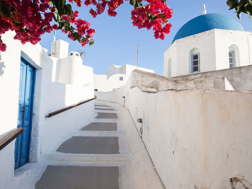 EVENTS IN SANTORINI  Santorini has more churches than houses and more wine than water..